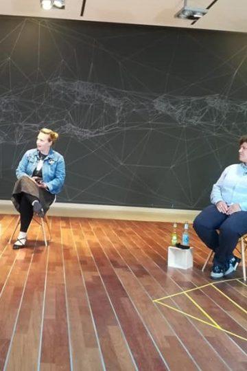 Auf dem Panel Christina Dinar und Francesca Schmidt für netzforma