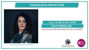 Bild der Vortragenden vom Talk Fleeing Data Protection